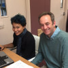 David and Jas (work experience) at the Fountain Workshop head offices in the Historic Dockyard, Chatham