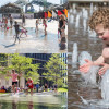 Water features at Granary Square, Pancras Square, and Cubitt Square in King's Cross, designed by the Fountain Workshop