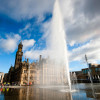 Bradford City Park mirror pool fountains by The Fountain Workshop