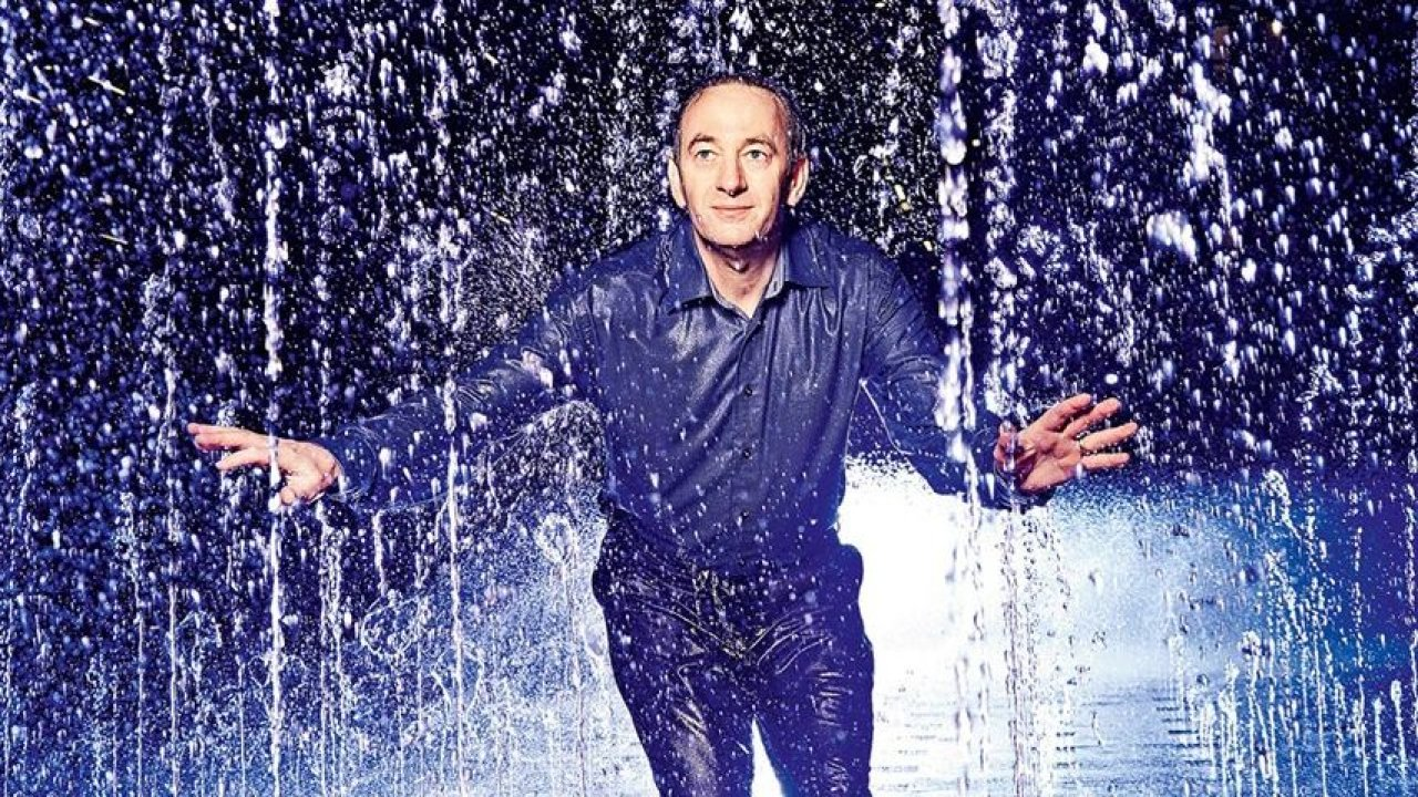 Photo in Wired magazine featuring David in the Granary Square fountains, King's Cross, designed by the Fountain Workshop