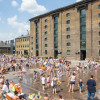 Granary Square Fountains, King's Cross, by the Fountain Workshop