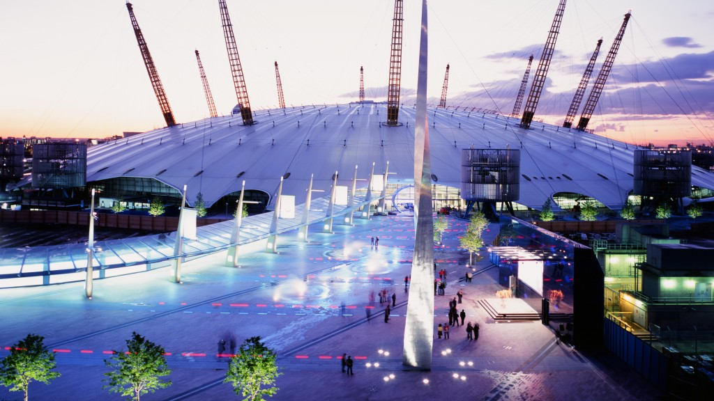 The Fountains At Peninsula Square At The O2 Arena